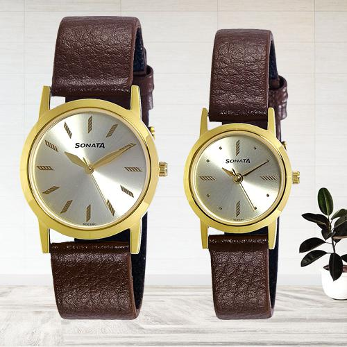 Marvelous Sonata Analog Gold Dial Mens Watch