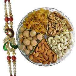 Classy Rakhis with Assorted Dry Fruits