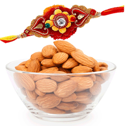 Dazzling Bond of Rakhis with Almonds
