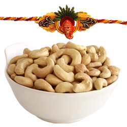 Enticing Rakhi Threads and Cashew Nuts Pleasure