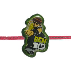 Classy Rakhi Accentuated with Kid's Favorite Ben10