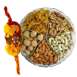 Fascinating Love Delight 100 gms Mixed Dry Fruits with 1 Rakhi