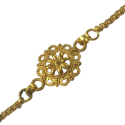 Attractive 24k Gold Plated Rakhi in Unique Design