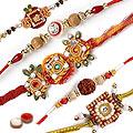 Stylish Celebration with Tendering Five Rakhis