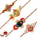Designer Rakhi Set 4 Pcs
