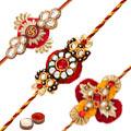 Designer Rakhi Set 3 Pcs