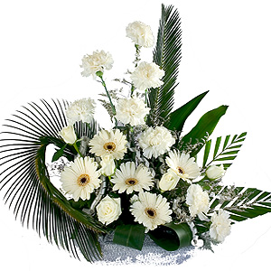 Heavenly Bunch of 24 White Flowers