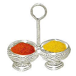 Buy Silver Haldi and Kumkum Stand