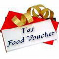 Luscious meal voucher gift at 5 Star Taj Hotel for 2 people