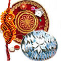 Send Mouth Watering Haldiram Sweets along Splendid Pooja Thali with free  Rakhi, Roli, Tilak and Chawal to Kerala
